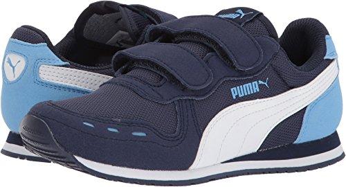PUMA Unisex-Kids Cabana Racer Mesh Velcro Kids 36024528 Sneaker, Peacoat White-Little Boy Blue, 12 M US Little Kid