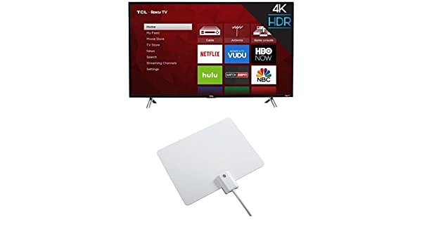 27ecb7033 Amazon.com  TCL 43S405 43-Inch 4K Ultra HD Roku Smart LED TV (2017 Model)  with Winegard FlatWave Micro FL-2000 Digital HD TV Indoor Antenna   Electronics