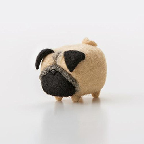 Needle Felted Dogs (Truslin - DIY Needle Felting Kit with Gift Box Faceless Dog - Pug)
