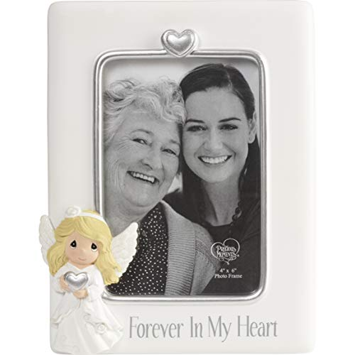 Precious Moments Forever In My Heart Resin 4 x 6 Angel Photo Frame ()