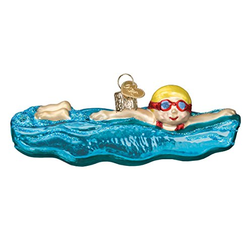 Old World Christmas 44130 Ornament, Swimming (Swimming Pool Ornaments)