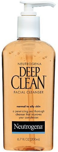 Neutrogena Deep Clean Facial Cleanser, Normal to Oily Skin, 6.7 Ounce(Pack of 3)