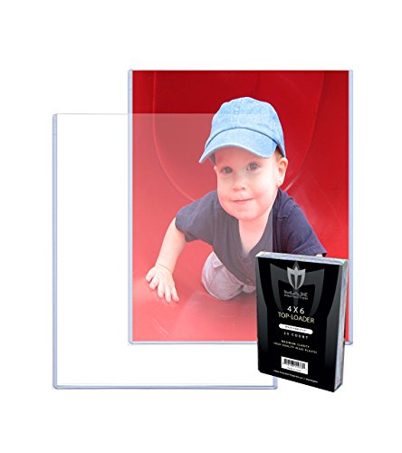 - (100) 4x6 MAX Pro Postcard Photo Hard Rigid Ultra Clear Toploader Holder - 100ct