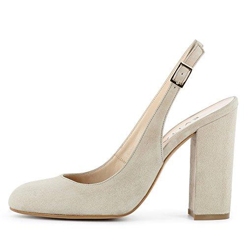 Evita Piel para Zapatos de Shoes vestir de Ilenea mujer gris rYqx0Yngw