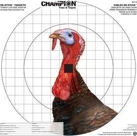 Champion Traps and Targets Re-Stick Turkey Sight-In Target (16 x 16) (Shooting Targets Turkey)