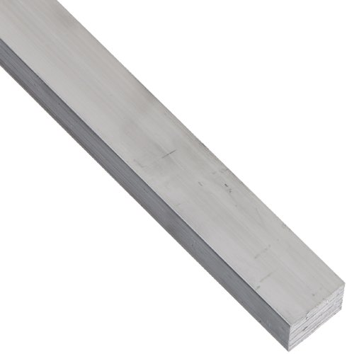 6061 Aluminum Rectangular Bar, Unpolished (Mill) Finish, T6511 Temper, Meets ASTM B221, 1/4