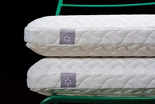Tempur-Pedic TEMPUR-ProForm クラウド枕 睡眠用 超ソフト ロープロファイルプレミアムフォーム 洗えるカバー 標準 ホワイト (リニュー)