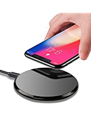 Qi Wireless Charger,IGUGIG 10W Upgraded Wireless Charging Pad for iPhone Xs/Xs Max/XR,iPhone X,iPhone 8 Plus/8,Samsung Galaxy S10/S9/S9 Plus,S8/S8 Plus,S7 S6 Edge+/Edge,Note 8 7 5,LG G3 (Black)