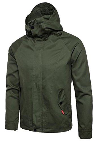 Front Uomo Militare zip Leggero Esterno Moda Giacca Verde uk Oggi Impermeabile Di 8xnRpYqa