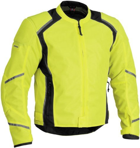 Jacket Leather Tex Mesh (Firstgear Mesh Tex Jacket - Large/DayGlo/Black)