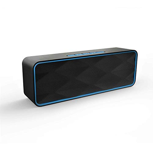 Wireless Bluetooth Speaker, Outdoor Portable Stereo Speaker with HD Audio and Enhanced Bass, Built-in Dual Driver Speakerphone, Bluetooth 4.2+EDR, Handsfree Calling, TF Card Slot
