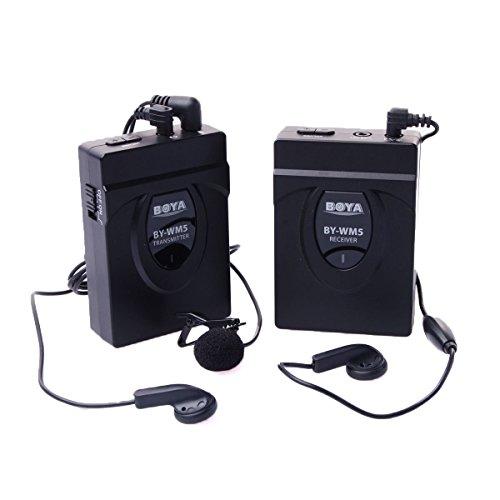 BOYA BY-WM5 Wireless Lavalier Microphone System fo...
