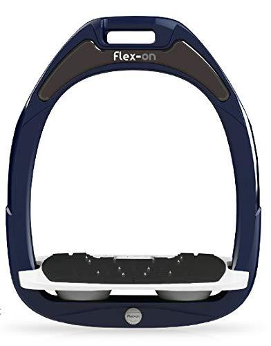 【 限定】フレクソン(Flex-On) 鐙 ガンマセーフオン GAMME SAFE-ON Mixed ultra-grip フレームカラー: ネイビー フットベッドカラー: ホワイト エラストマー: グレー 08108   B07KMPZZZZ