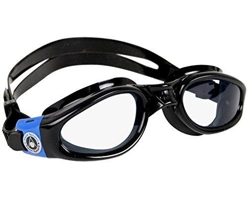 Aqua Sphere Kaiman Swim Goggle, Black Blue, Clear - Goggles Swimming Sale