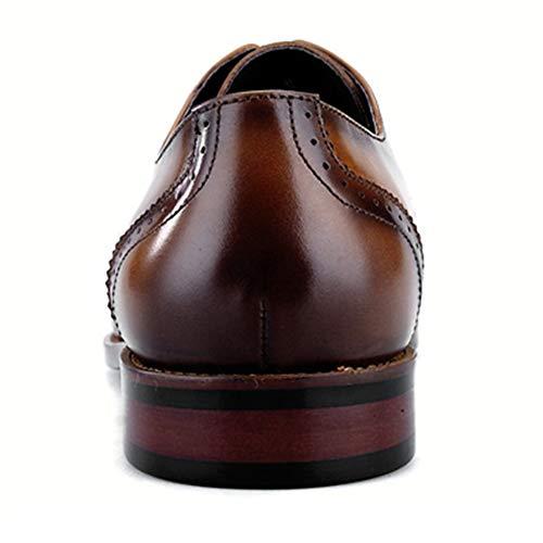 Breathable Uomo Scarpe Vera Calzature Pelle In Casual Brown Scarpe Up Lace Derby Classico Formale Intagliare Di Regali Affare Comode Nozze Swqr6xSA