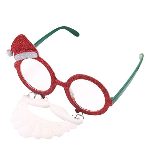 (Decorative Decorative - Mask Funny Props Halloween Big Nose Hair Grandfather Christmas Hat Santa Claus Modeling Glasses - Male Beard Glasses Nose Ski Hat Victoria A Fake Nose Nose Women)