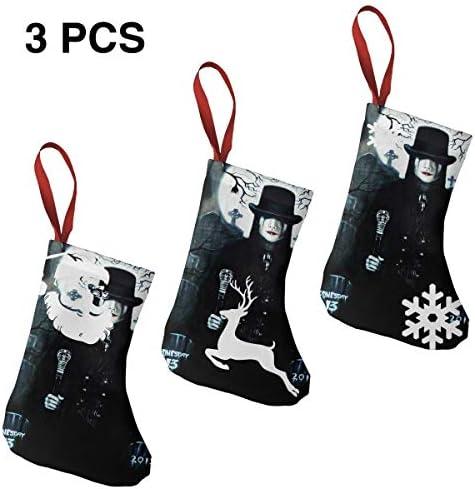 クリスマスの日の靴下 (ソックス3個)クリスマスデコレーションソックス 水曜バンドWednesday 13 クリスマス、ハロウィン 家庭用、ショッピングモール用、お祝いの雰囲気を加える 人気を高める、販売、プロモーション、年次式