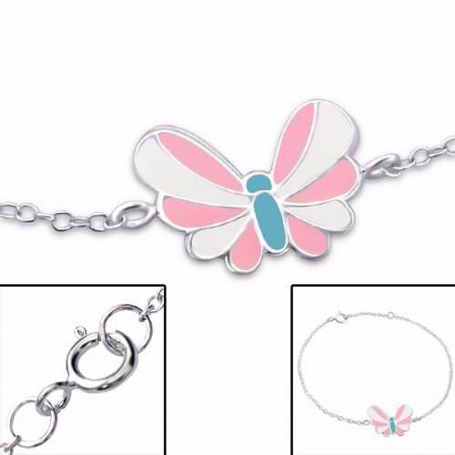 Solid Rock Jewelry 85119 Bracelet Butterfly With Epoxy 925 Sterling Silver Adjustable by Solid Rock Jewelry
