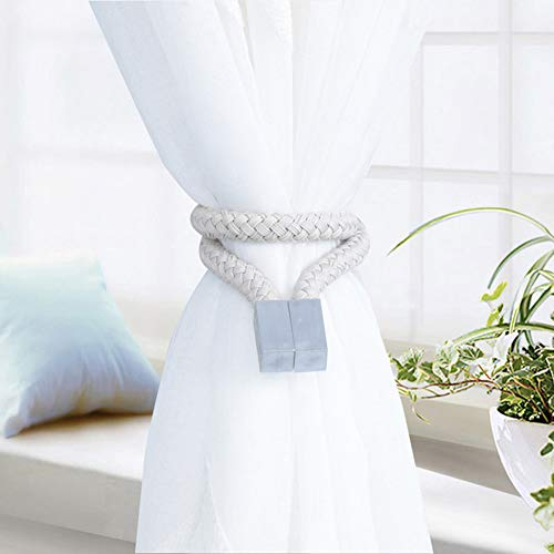 lightclub 1Pc Woven Twist Knotted Curtain Strap Buckle Holder Magnet Tieback Home Decor - Knotted Buckle