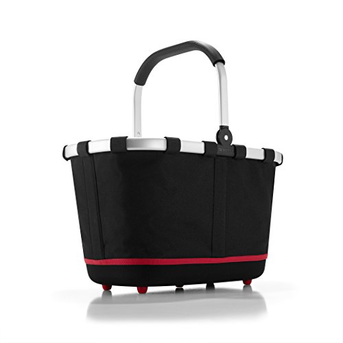 (reisenthel Carrybag 2 Fabric Picnic Tote, Sturdy Lightweight Basket for Shopping and Storage, Black)