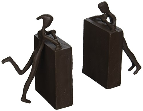 Design Toscano Over the Bookshelf Cast Iron Statues