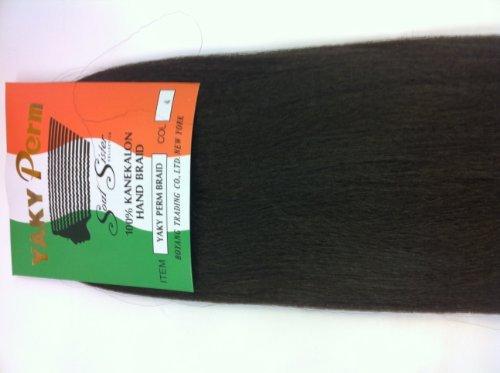 Soul Sister Yaki Perm Braiding Hair, Yaki Perm for Braiding (#2 (Dark (Yaki Braid)