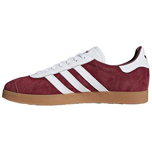 adidas Originals Men's Gazelle Sneaker (9.5, Collegiate Burgundy/Cloud White/Cloud White) (Adidas Sneakers Men White)
