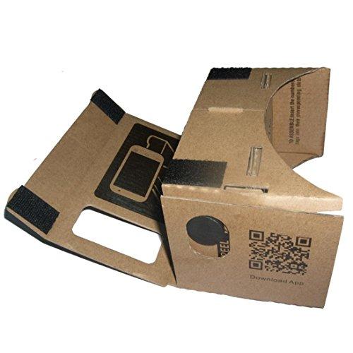 2016 Perman New for Google DIY Cardboard Valencia Quality 3D Glasses TV Video VR Virtual Reality Fit 4-7 Inch Screen Smartphones, iPhone, Google, Nexus 6, Samsung Mobile Phones