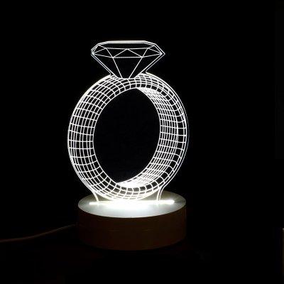 BGmdjcf 3D Stereo Led Wooden Modern Stylish Bedrooms Head Lamp Creative Little Night Lights , Birthday Gift Diamond Rings , The Button (Headlamps Crystal Diamond)
