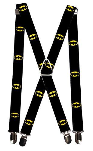 Buckle Down Mens Elastic DC Comics Batman Clip End Suspenders, Batman