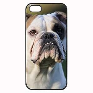 Custom BULLDOG DOG COVER CASE FOR IPHONE 5 5S MOBILE PHONE
