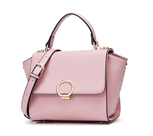 Womens Handbags Shoulder Bags Handbags Totes Handbags With Handles Gray Leather Pink