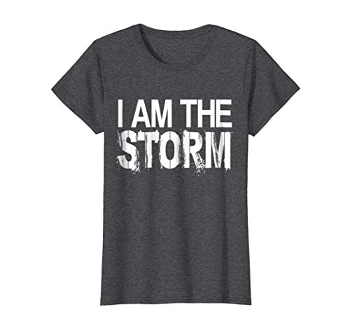 Womens I Am The Storm Devil Whispers Motivational T-Shirt XL Dark Heather - Devil Womens Dark T-shirt