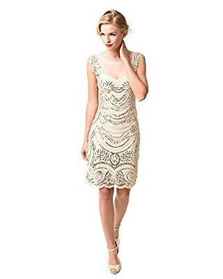 1920s Flapper Dress Women's Crystal Sequin Embellished Gatsby Dress for Cocktail