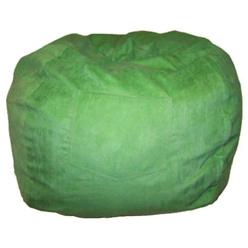 Standard Green Bean Bag (Fun Furnishings Beanbag, Large, Lime Green Micro)