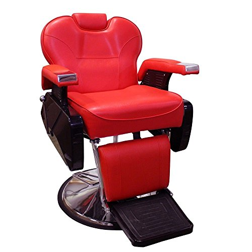 Real Relax All Purpose Classic Beauty Hydraulic Recline Barber Chair for Hairdresser's Equipment Red