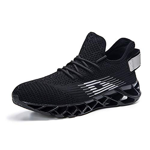 Für Fitness Herren Atmungsaktiv Gym Sneaker Trainer Mabove Running Turnschuhe Rutschfest Damen Outdoor Laufschuhe Straßenlaufschuhe dh66 Schwarz Sportschuhe v0gq7w