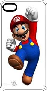 Happy Jumping Mario White Plastic Case for Apple iPhone 6 Plus