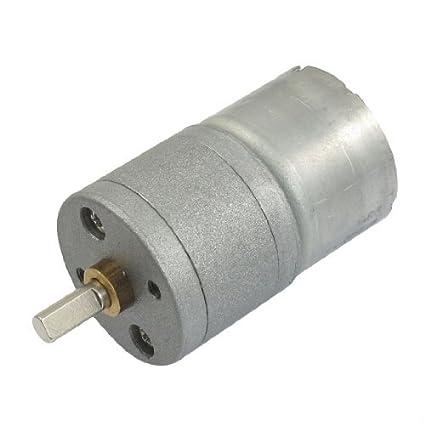 eDealMax reemplazo de 4 mm Diámetro del eje DC 3V 60RPM 0.5A 25GA eléctrico Motorreductor