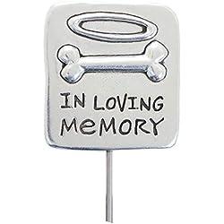 Rockin Doggie Pewter Memorial Stake, In Loving Memory