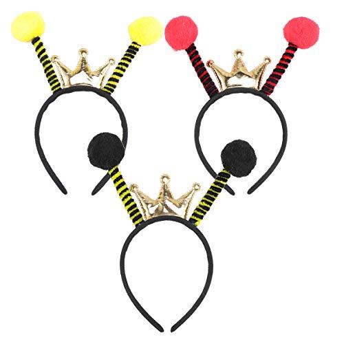 Amosfun 3pcs Bee Headband Ladybug Headband Headwear Hair Hoop Party Favors Gift ()