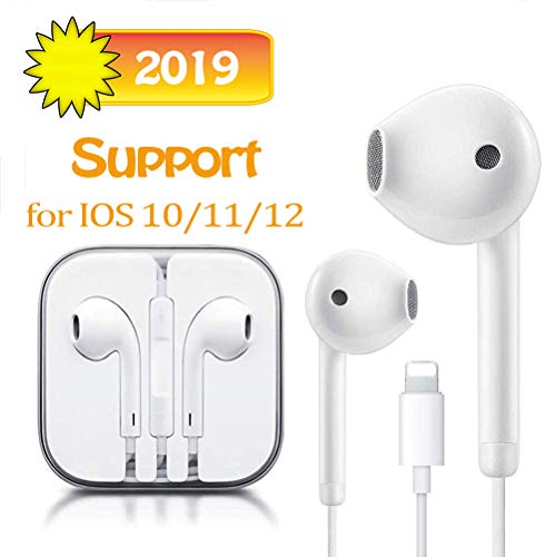 Suearpost Earbuds, Microphone Earphones Stereo Headphones Noise Isolating Headset Compatible with iPhone 7/7 Plus/8/8 Plus/XS/X/XS Max/XR Earphones
