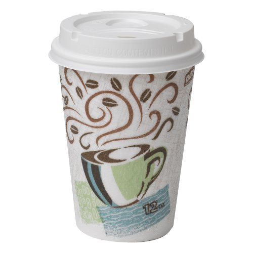 Dixie PerfecTouch 5342COMBO600 Grab N Go Cup and Lid Pack, 12 oz. (Case of 6 Packs, 50 cups and lids per Pack)