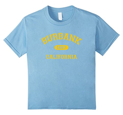 Kids Retro College-Style Burbank, California 1887 T-Shirt 8 Baby - Kids Burbank
