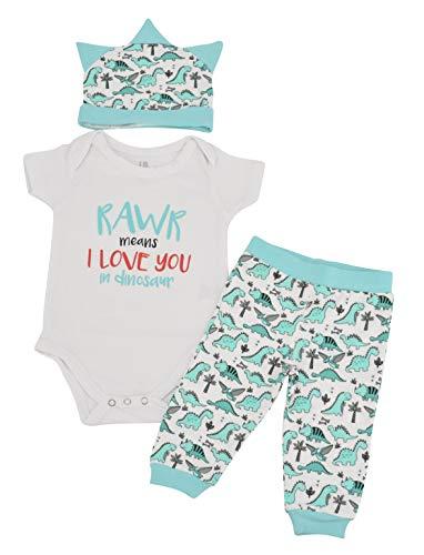 - Unique Baby Boys Dinosaur Love Valentine's Day Layette Cap (18 Months) Aqua