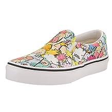 Vans Kids Classic Slip-On (Dallas Clayton) Multi/True White Skate Shoe 11 Kids US