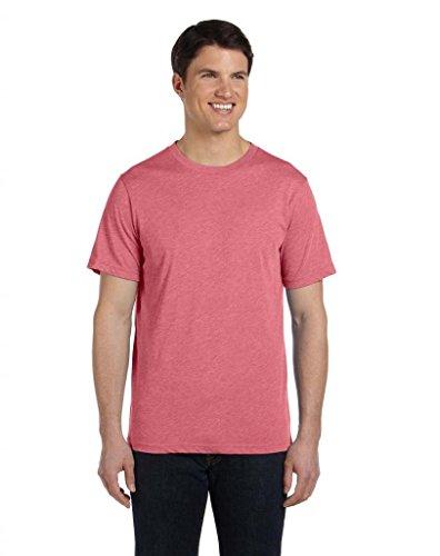 Bella Herren Asymmetrischer T-Shirt Gr. Small, Rot - RED TRIBLEND