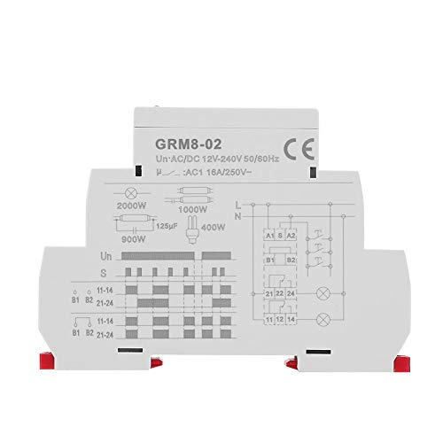 GRM8-02 AC/DC 12-240V Electronic Pulse Relay Latching Relay Memory Impulse Relay