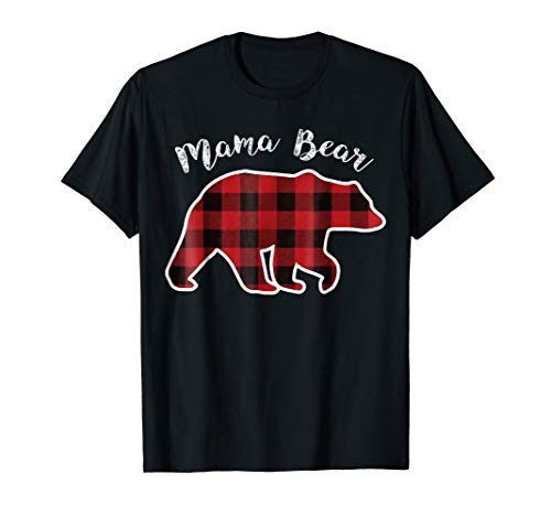 MAMA BEAR | Women Red Plaid Christmas Pajama Family Mom Gift