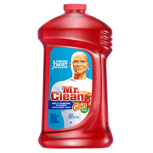 Mr. Clean with Multi Surface Cleaner, Apple Berry Twist Scent, 40 Ounce